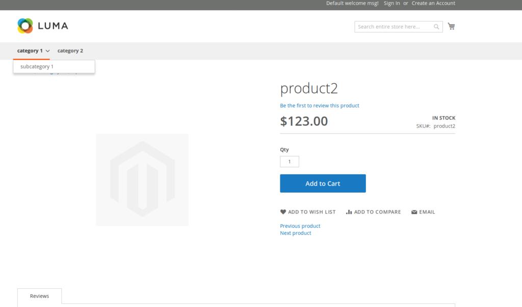 Magento 2 Luma Product Page