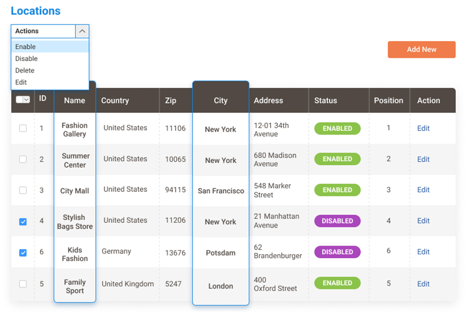 Store Locator Dashboard