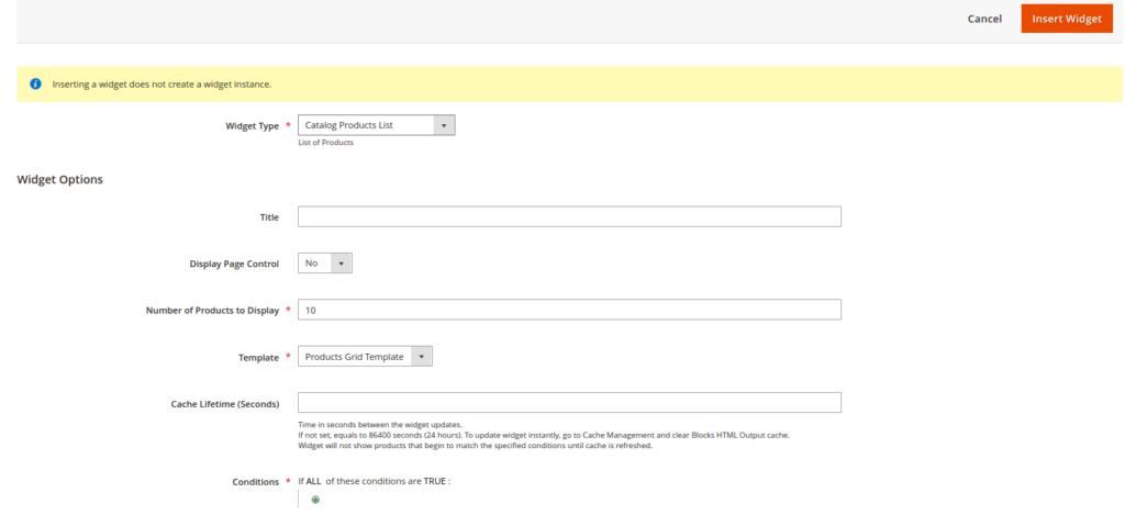 Product Slider, Step 4: Widget Options