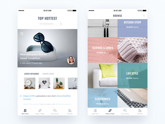 eCommerce Mobile User Interface