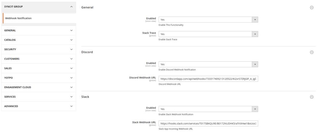 Magento 2 Admin Panel, Store Configuration