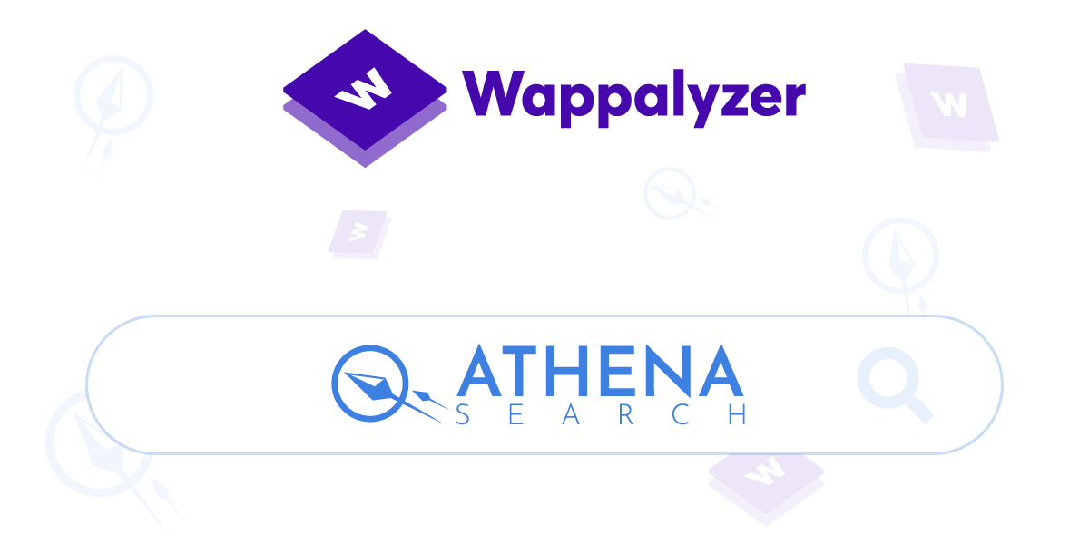 Athena Search Just Got Wappalyzed